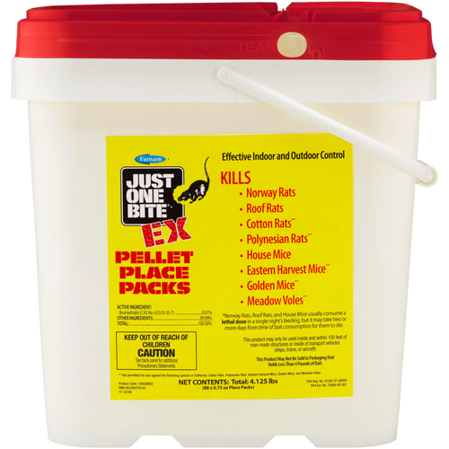 Farnam Just One Bite Ex Rat and Mouse Bait Poison - 88 .75 OZ place packs