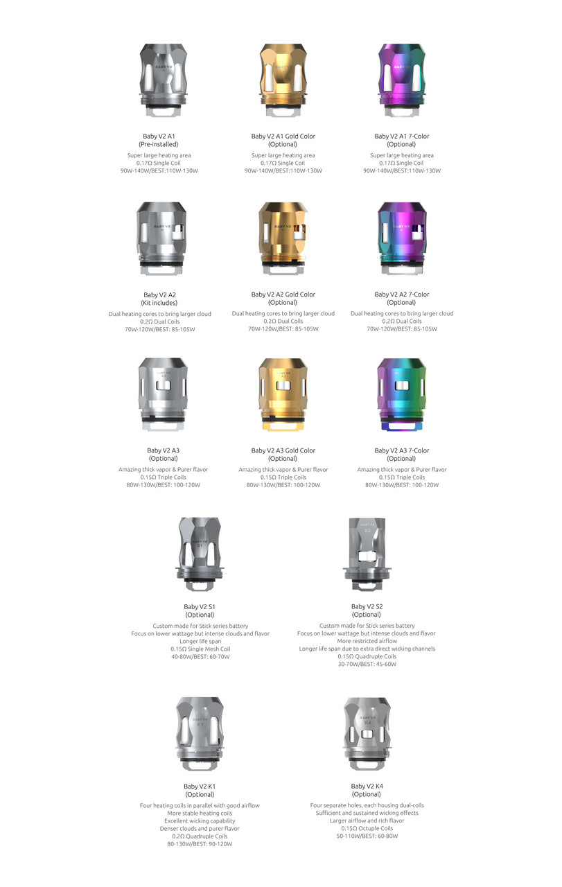 Smok TFV8 Baby V2 Replacement Coils (Pack of 3)