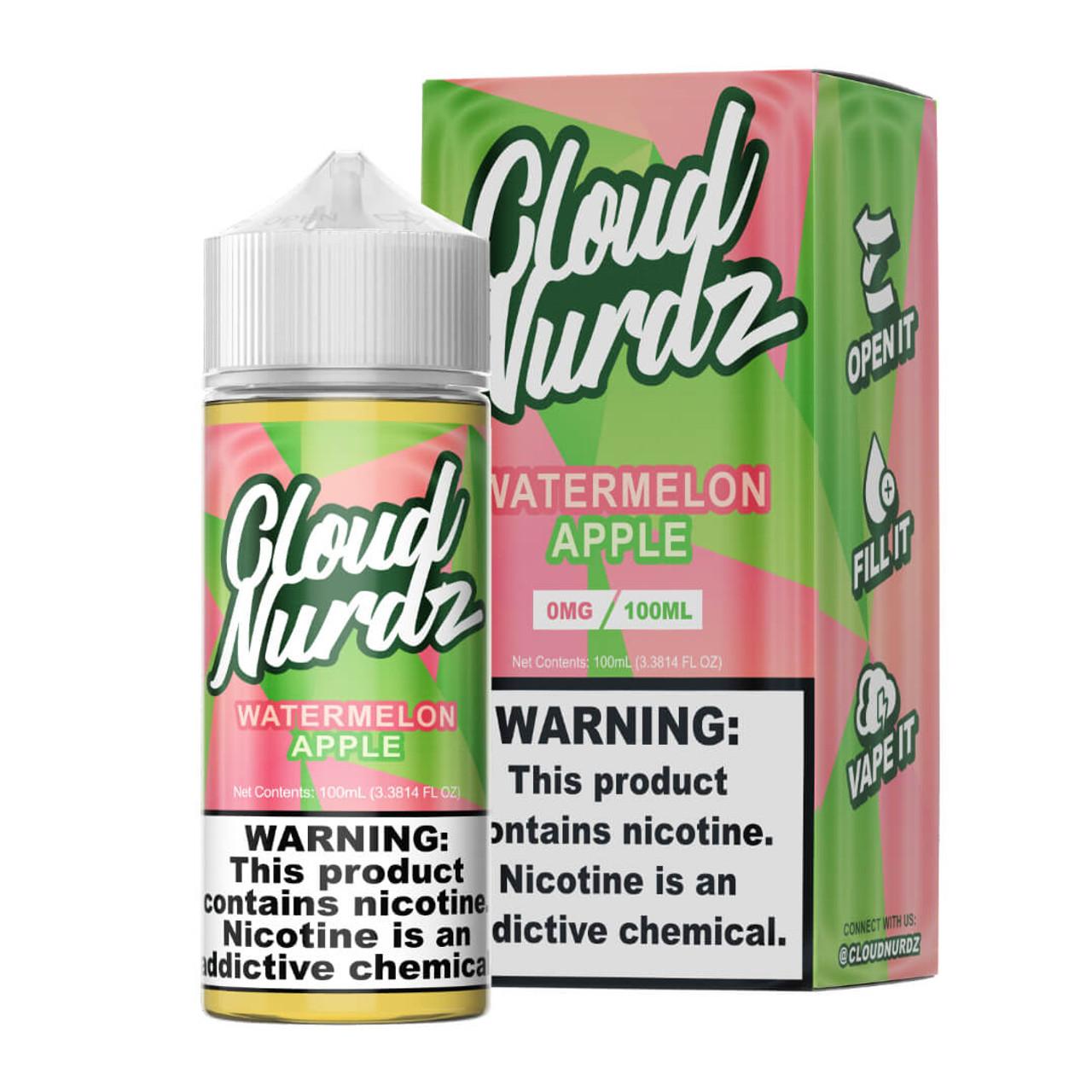 Cloud Nurdz Watermelon Apple 100ml E-Juice