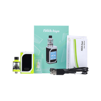 iStick Kiya Kit by Eleaf | Eleaf iStick Kiya 50w TC Kit Comes With GS Juni Tank | Cheap Box Mod Vape Kits | Cheap Eleaf Vape Deals | Wholesale to the Public | Cheapest Vape Store Online | Vape | Vapor | Ecig | Ejuice | Eliquid | Eleaf Vape | Eleaf USA | ECIGMAFIA