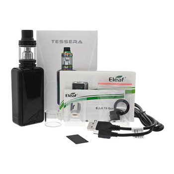 Tessera Kit by Eleaf | Eleaf Tessera 150w TC Kit Comes With Ello TS Sub-Ohm Tank | Cheap Box Mod Vape Kits | Cheap Eleaf Vape Deals | Wholesale to the Public | Cheapest Vape Store Online | Vape | Vapor | Ecig | Ejuice | Eliquid | Eleaf Vape | Eleaf USA | ECIGMAFIA