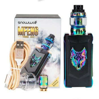 MFENG 200W TC Kit by SnowWolf | SnowWolf MFENG 200W Starter Kit Comes With Wolf Sub-Ohm Tank | Box Mod Vape Kits | Cheap SnowWolf Vape Kit Deals | Wholesale to the Public | Cheapest Vape Store Online | Vape | Vapor | Ecig | Ejuice | Eliquid | SnowWolf Vape | SnowWolf USA | ECIGMAFIA