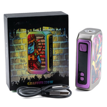 Graffiti 220W Box Mod by VZONE | VZONE GRAFFITI Box Mod | Sub Ohm Vape Box Mods | Cheap VZONE Vape Deals | Wholesale to the Public | Cheapest Vape Store Online | Vape | Vapor | Ecig | Ejuice | Eliquid | VZONE Vape | VZONE USA | ECIGMAFIA