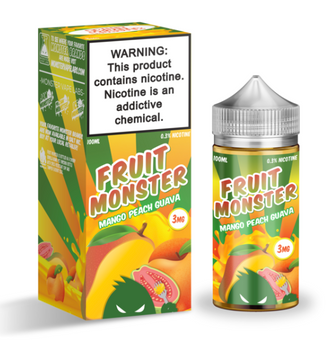 Mango Peach Guava E-Juice 100ml by Fruit Monster E-Liquids | Fruit Monster Mango Peach Guava 100ml E-Liquid | Mango Peach Guava  100ml | Cheap E-Juices | Cheap e-Liquid Deals | Cheap Fruit Monster E-Juice Deals | Wholesale to the Public | Cheapest Vape Store Online | Vape | Vapor | Ecig | EJuice | Eliquid | Fruit Monster E-Liquids | Fruit Monster USA | Fruit Monster E-Liquids | ECIGMAFIA