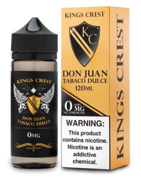 Don Juan Tabaco Dulce E-Juice 120ML by King's Crest E-Liquids | King's Crest E-Liquid Don Juan Tabaco Dulce 120ML | Don Juan Tabaco Dulce  120ML | Cheap E-Juices | Cheap Deals | Cheap King's Crest E-Liquid E-Juice Deals | Wholesale to the Public | Cheapest Vape Store Online | Vape | Vapor | Ecig | EJuice | Eliquid | King's Crest E-Liquids | King's Crest E-Liquid USA | King's Crest E-Liquids | ECIGMAFIA