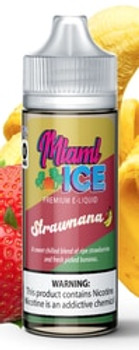 Fuggin Vapor Miami Ice Strawnana 120ml E-Juice