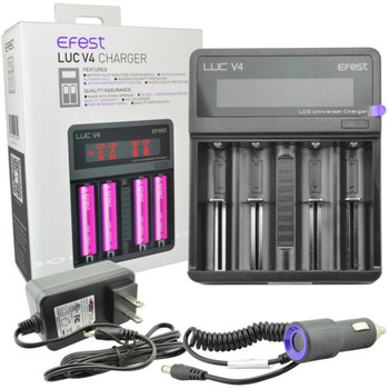 LUC V4 4-Bay Universal LCD Battery Charger by Efest | Efest LUC V4 4-Bay Battery Charger | Vape Chargers | Cheap Efest Vape Deals | Wholesale to the Public | Cheapest Vape Store Online | Vape | Vapor | Ecig | Ejuice | Eliquid | Efest Vape Chargers | Efest USA | ECIGMAFIA