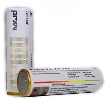 MXJO IMR 21700 4000mAh 30A 3.7v Battery Flat-Top