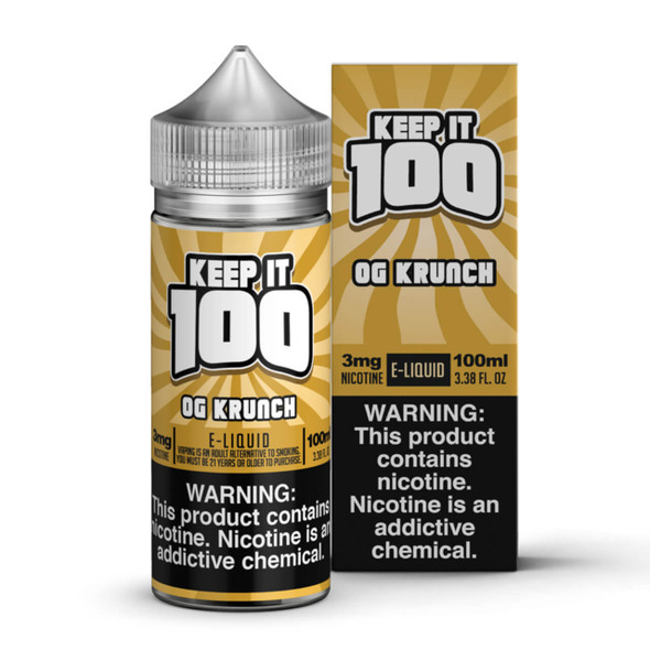Krunchy Squares E-Liquid 100ml by Keep it 100 eJuice