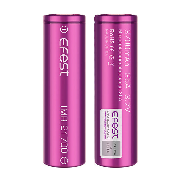 Efest 21700 3700mAh 35A Battery by Efest | Efest 3700mAh 21700 Battery | 21700 Vape Battery | Cheap Efest 21700 Vape Battery Deals | Wholesale to the Public | Cheapest Vape Store Online | Vape | Vapor | Ecig | Ejuice | Eliquid | Efest Vape | Efest USA | ECIGMAFIA