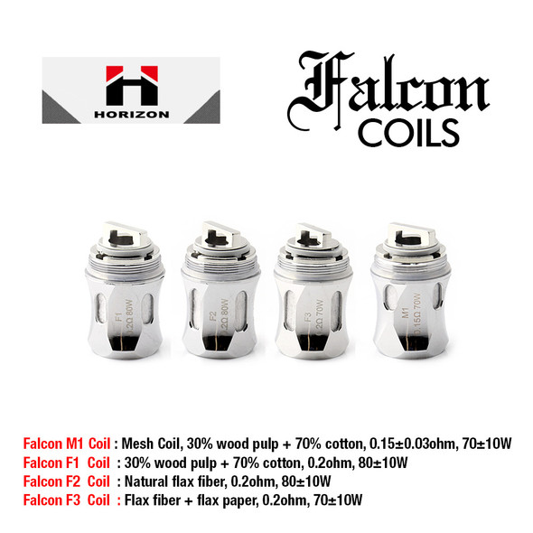 Falcon Replacement Coil 3 Pack by Horizon by Horizon Falcon Replacement Coils by Sub Ohm Vape Coils by Cheap Horizon Vape Deals by Wholesale to the Public by Cheapest Vape Store Online by Vape by Vapor by Ecig by Ejuice by Eliquid by HorizonTech Vape by Horizon USA by ECIGMAFIA