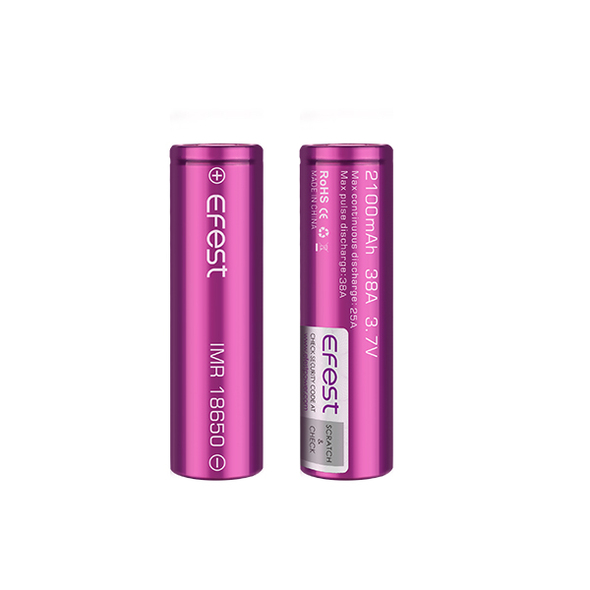Efest 18650 2100mAh 38A Battery (Pack of 2)