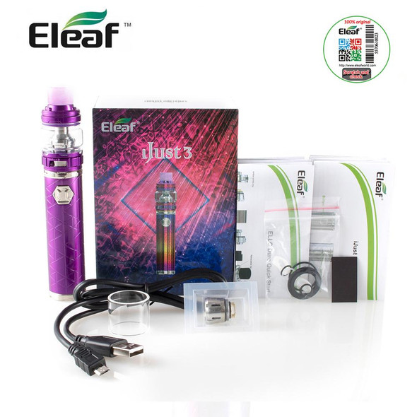 iJust 3 Kit by Eleaf | Eleaf iJust 3 80w TC Kit Comes With Ello Duro Sub-Ohm Tank | Cheap Vape Kits | Cheap Eleaf Vape Deals | Wholesale to the Public | Cheapest Vape Store Online | Vape | Vapor | Ecig | Ejuice | Eliquid | Eleaf Vape | Eleaf USA | ECIGMAFIA