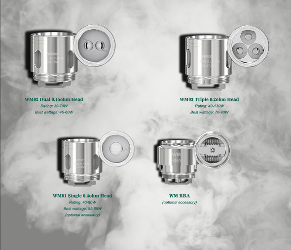 WM COILS by Wismec by Wismec WM WM01 0.4Ohm + WM02 0.15Ohm + WM03 0.2Ohm + WM-M MESH 0.15Ohm Replacement COILS by Cheap Vape Coils by Cheap WISMEC Vape Deals by Wholesale to the Public by Cheapest Vape Store Online by Vape by Vapor by Ecig by Ejuice by Eliquid by WISMEC Vape by WISMEC ECIG by WISMEC USA by ECIGMAFIA