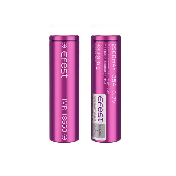 Efest 18650 2900mAh 35A IMR Battery (Pack of 2)