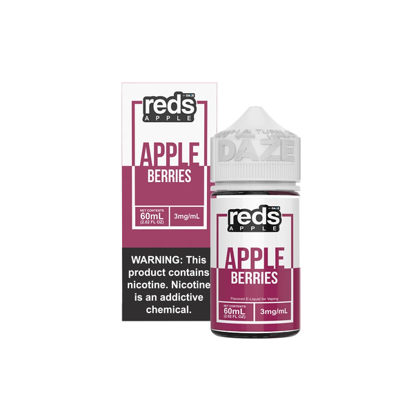 Berries Red's Apple E-Juice 60mL by Red's Apple + 7Daze E-Liquids | Berries Red's Apple 60mL E-Liquid | Berries Red's Apple 60mL | Cheap E-Juices | Cheap e-Liquid Deals | Cheap Red's Apple E-Juice Deals | Wholesale to the Public | Cheapest Vape Store Online | Vape | Vapor | Ecig | Ejuice | Eliquid | Red's Apple E-Liquids | Red's Apple USA | Red's Apple | ECIGMAFIA