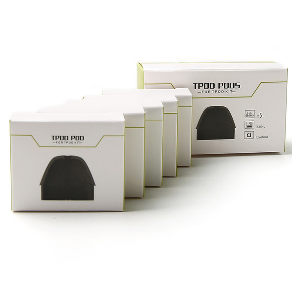 Tesla TPOD AiO Replacement Pod Cartridges 5 Pack by Tesla | Tesla TPOD Pods | Tesla TPOD Cartridges | Vape Pod System Cartridges | Cheap Tesla Vape Deals | Wholesale to the Public | Cheapest Vape Store Online | Vape | Vapor | Ecig | Ejuice | Eliquid | Tesla Vape | Tesla USA | Tesla | ECIGMAFIA