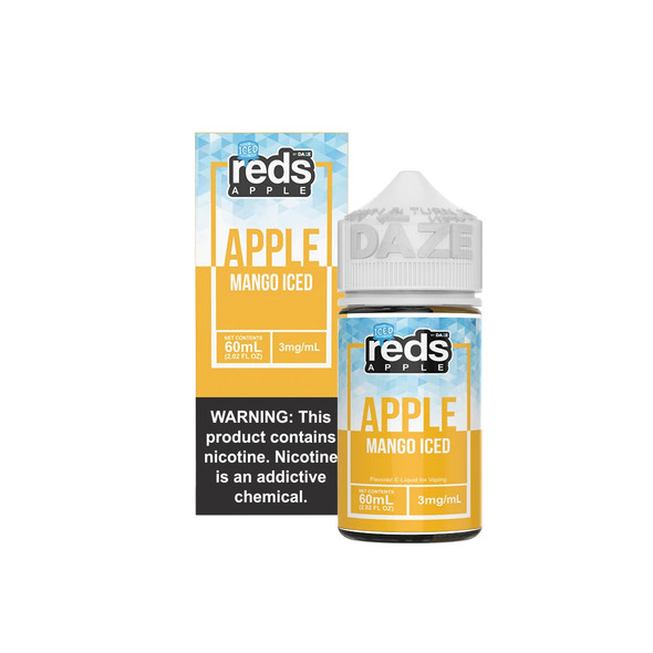 Mango Iced Red's Apple E-Juice 60mL by Red's Apple + 7Daze E-Liquids | Mango Iced Red's Apple 60mL E-Liquid | Mango Iced Red's Apple 60mL | Cheap E-Juices | Cheap e-Liquid Deals | Cheap Red's Apple E-Juice Deals | Wholesale to the Public | Cheapest Vape Store Online | Vape | Vapor | Ecig | Ejuice | Eliquid | Red's Apple E-Liquids | Red's Apple USA | Red's Apple | ECIGMAFIA