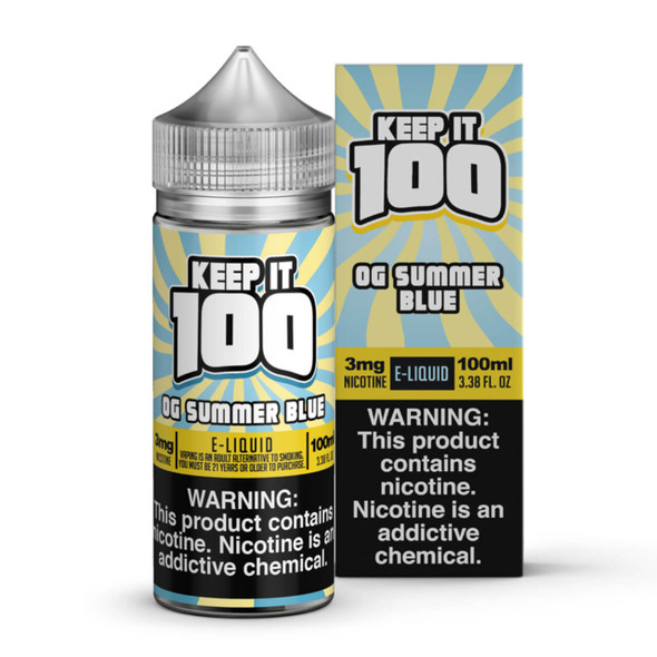 Blue Slushie Lemonade E-Liquid 100ml by Keep it 100 eJuice