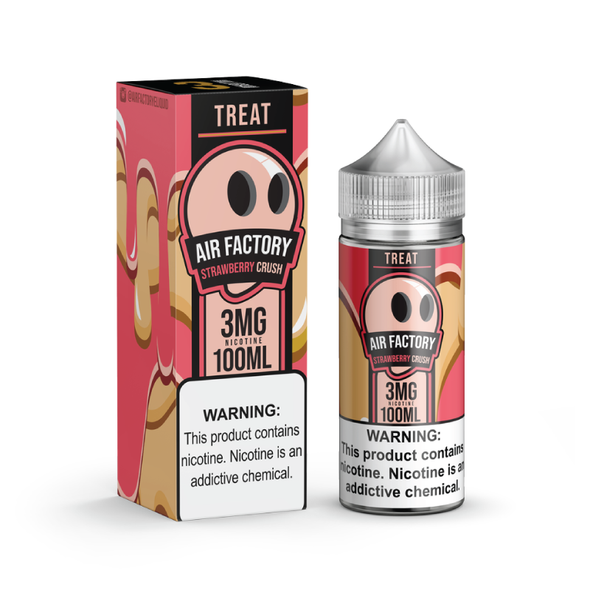 Strawberry Crush E-Juice 100mL by Air Factory + Treat Factory | Treat Factory Strawberry Crush 100mL E-Liquid | Strawberry Crush 100mL | Cheap E-Juices | Cheap e-Liquid Deals | Cheap Air Factory E-Juice Deals | Wholesale to the Public | Cheapest Vape Store Online | Vape | Vapor | Ecig | Ejuice | Eliquid | Air Factory E-Liquids | Air Factory USA | Air Factory + Treat Factory | ECIGMAFIA