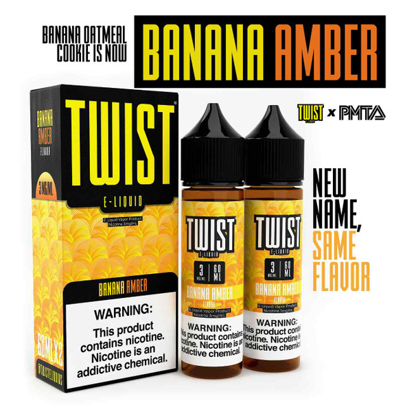 Banana Oatmeal Cookie eJuice by Twist E-Liquid 120ML