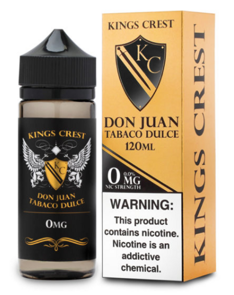 Don Juan Tabaco Dulce eJuice by King's Crest E-Liquid 120ML