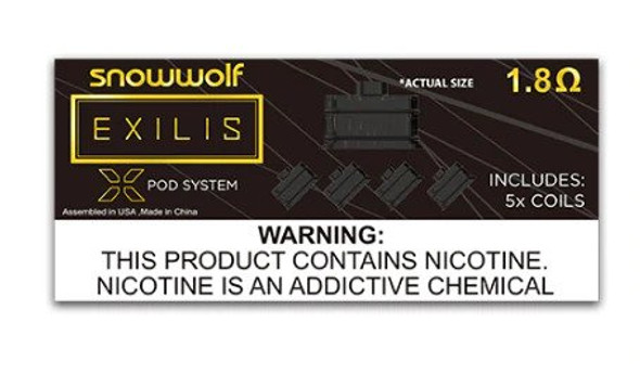 Sigelei SnowWolf Exilis XPOD Coils (Pack of 5)