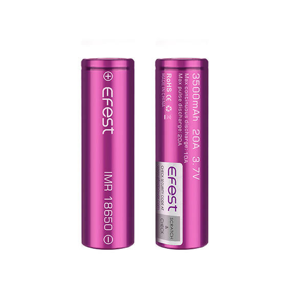 Efest 18650 3500mAh 20A IMR Battery (Pack of 2)