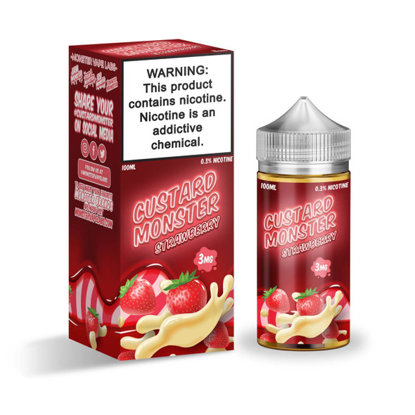 Custard Monster Strawberry Custard 100ml eJuice by Jam Monster