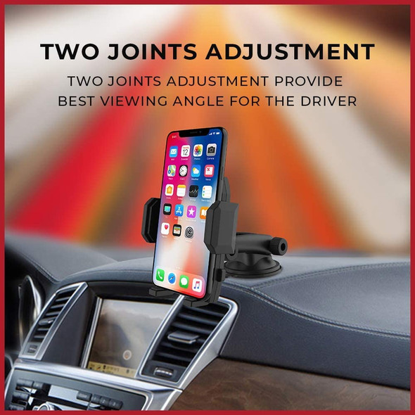 Pivoi Universal Dashboard/ Windshield One Touch Foldable Car Mounts Holders with 360° Rotation