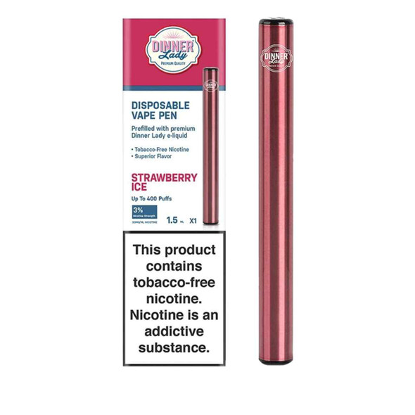 Dinner Lady Strawberry Ice Disposable Vape Pen