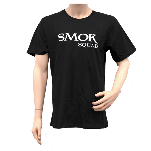 Smok Squad T-Shirt Black White Logo
