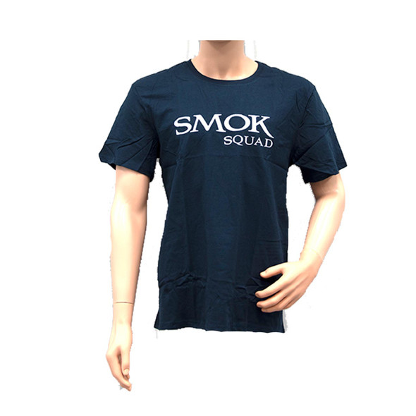 Smok Squad T-Shirt Navy Blue With Smok Squad Logo