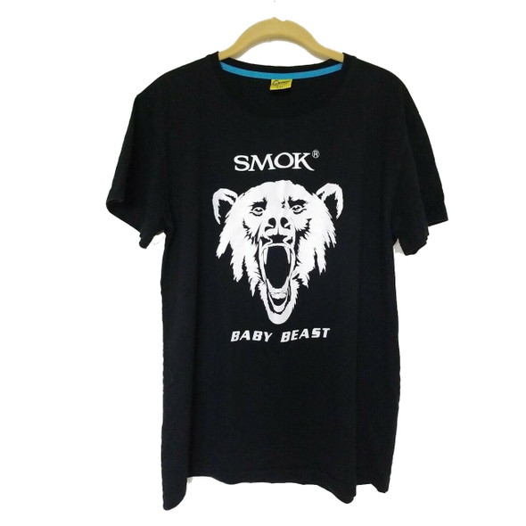 Smok Baby Beast Black T-Shirt With Smok Logo and Picture of Bear in White