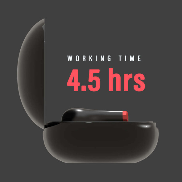 Pivoi True Wireless Earbuds, 4.5 Hours Playtime