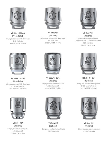 TFV8 BABY BEAST COILS by SMOK by SMOK TFV8 BABY BEAST Replacement COILS 5 PACK by SMOK TFV8 BABY COILS by BABY V8-T8 + BABY V8-Q2 + BABY V8-T6 + BABY V8-M2 + BABY V8-Q4 + BABY V8-X4 + BABY V8-T12 + BABY V8-MESH + BABY V8-STRIP COILS by Cheap SMOK Vape COILS by Cheap SMOK Vape Deals by Wholesale to the Public by Cheapest Vape Store Online by Vape by Vapor by Ecig by Ejuice by Eliquid by SMOK Vape by SMOK ECIG by SMOK USA by SMOKTECH by ECIGMAFIA