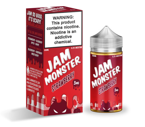 Strawberry Jam E-Liquid 100ml by Jam Monster