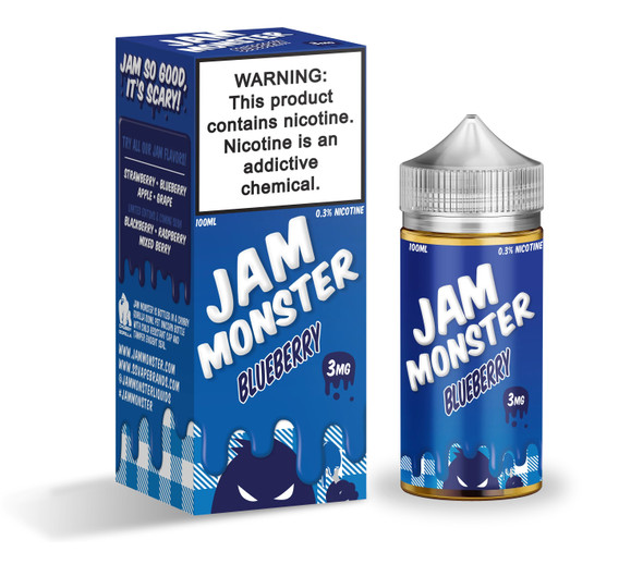 Blueberry Jam E-Liquid 100ml by Jam Monster eJuice