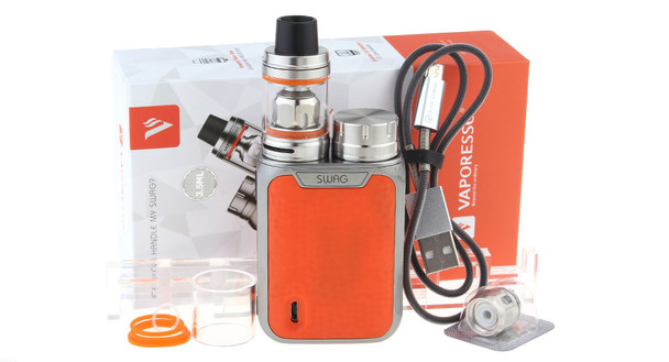 SWAG Kit by Vaporesso by Vaporesso SWAG 80w TC Kit Comes With NRG SE Sub-Ohm Tank by Box Mod Vape Kits by Cheap Vaporesso Vape Deals by Wholesale to the Public by Cheapest Vape Store Online by Vape by Vapor by Ecig by Ejuice by Eliquid by Vaporesso Vape by Vaporesso USA by ECIGMAFIA