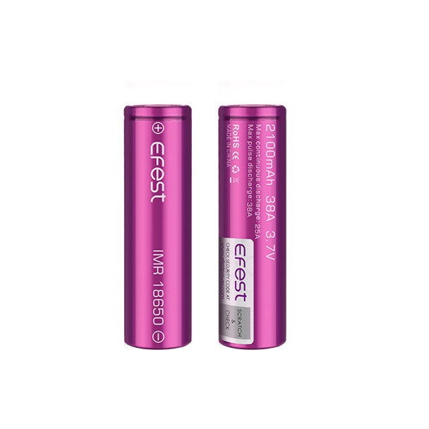 Efest 18650 2100mAh 38A Battery (Pack of 2)
