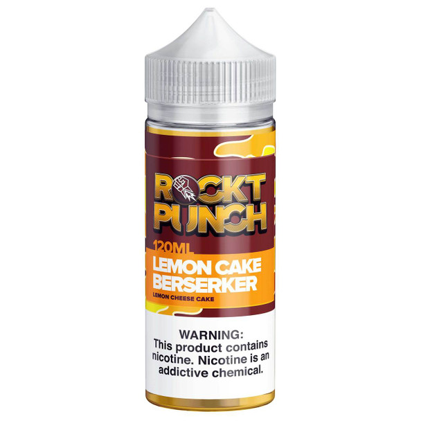 Lemon Cake Berserker E-Liquid 120ml by Rockt Punch eJuice