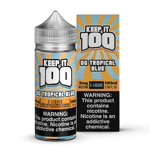 Blue Slushie Tropical E-Liquid 100ml by Keep it 100 eJuice