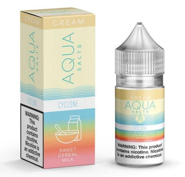 Cyclone Salts eJuice by Aqua Salts Cream E-Liquid 30ML
