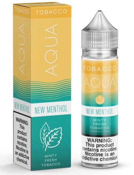 New Menthol eJuice by Aqua Tobacco E-Liquid 60ML