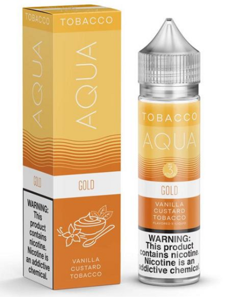Gold eJuice by Aqua Tobacco E-Liquid 60ML
