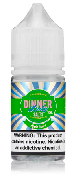 Apple Sours Salt eJuice by Dinner Lady E-Liquid 30ML