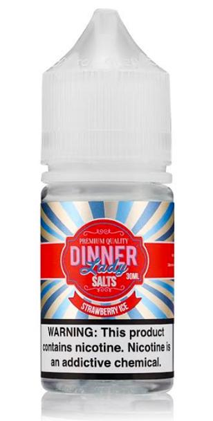 Strawberry Ice Salt eJuice by Dinner Lady E-Liquid 30ML