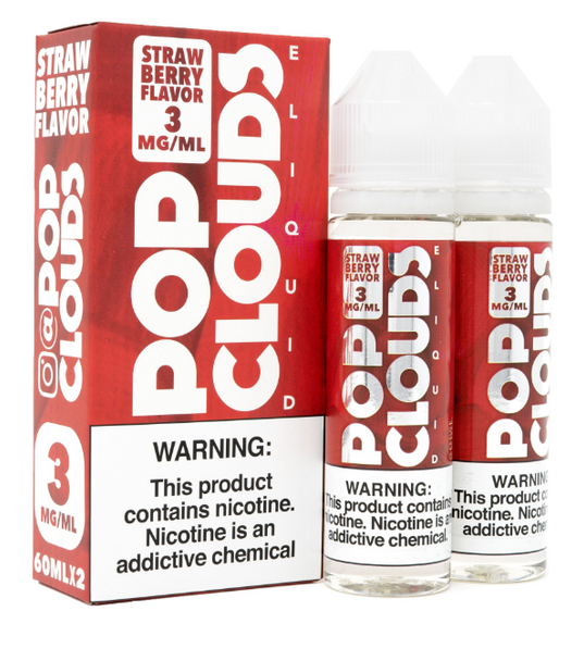Strawberry eJuice by Pop Clouds E-Liquid 120ML