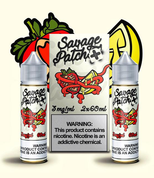 Straw Lemon Patch eJuice by Savage Patch E-Liquid 120ML
