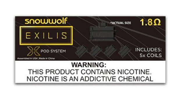 Sigelei SnowWolf Exilis XPOD Coils (Pack of 5)